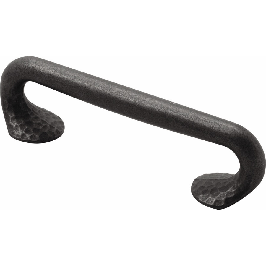 Hickory Hardware 96mm Center-to-Center Black Iron Craftsman Bar Cabinet Pull