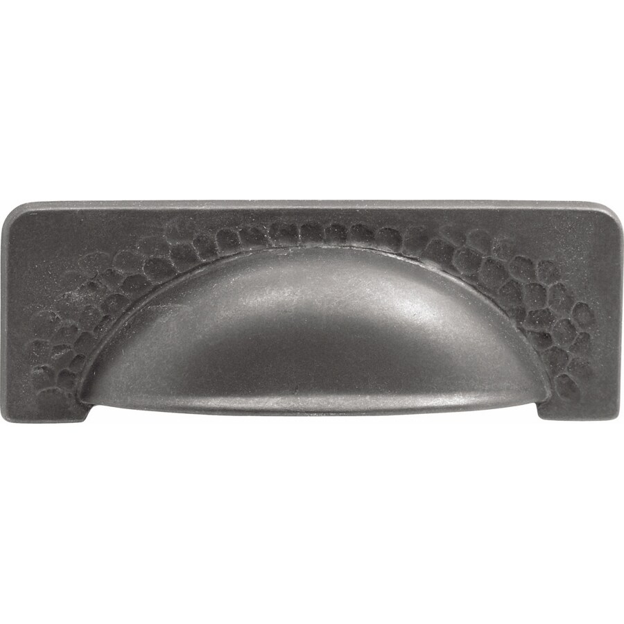 Hickory Hardware 96mm Center-to-Center Black Iron Craftsman Cup Cabinet Pull