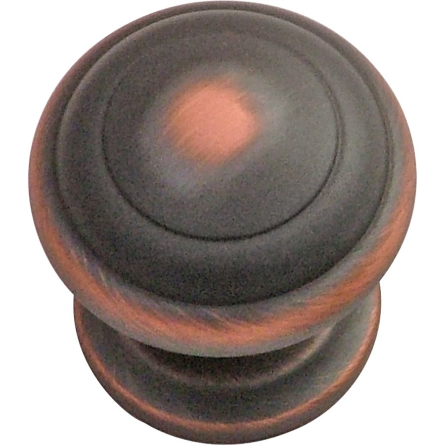 Hickory Hardware Zephyr Oil-Rubbed Bronze Highlighted Round Cabinet Knob