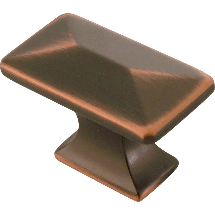 Hickory Hardware Bungalow Oil-Rubbed Bronze Highlighted Rectangular Cabinet Knob