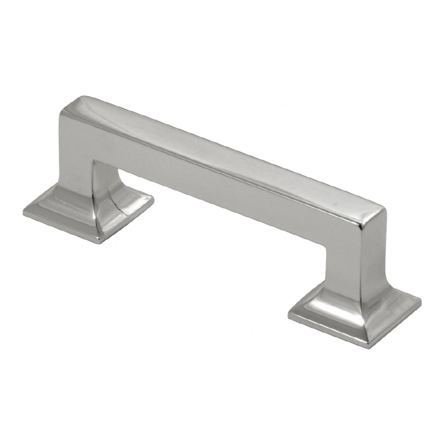 Hickory Hardware 3-in Center-to-Center Bright Nickel Studio Bar Cabinet Pull