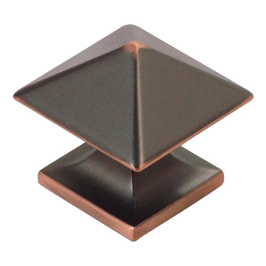 Hickory Hardware Studio Oil-Rubbed Bronze Highlighted Square Cabinet Knob