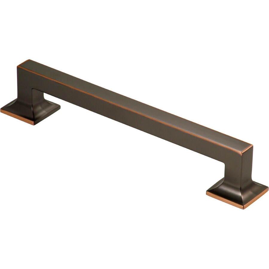 Hickory Hardware 8-in Center-to-Center Oil-Rubbed Bronze Highlighted Studio Bar Cabinet Pull