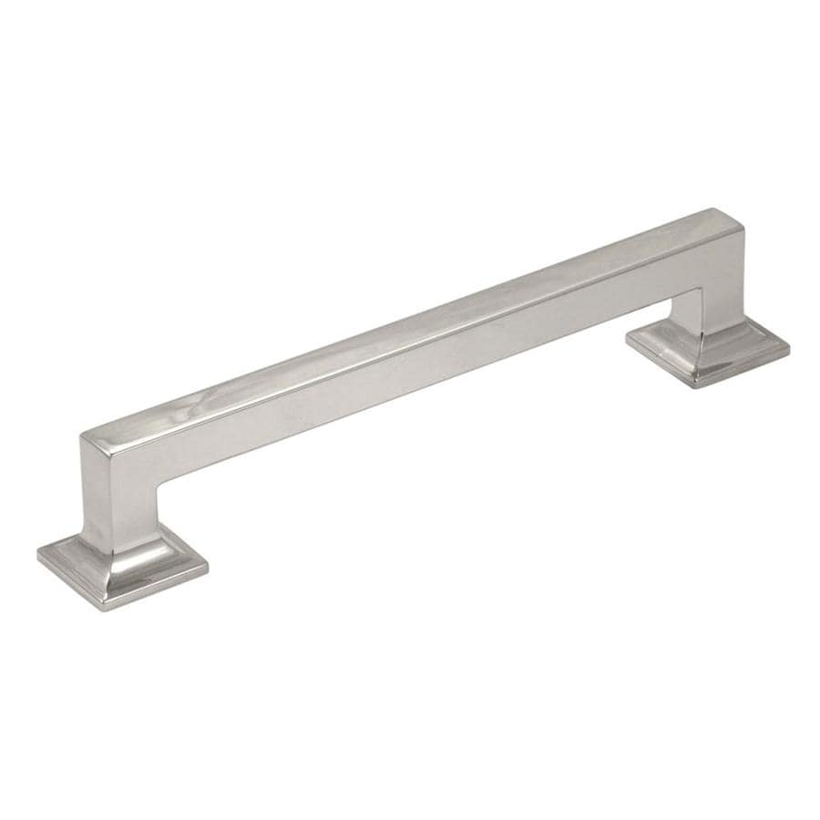 Hickory Hardware 8-in Center-to-Center Bright Nickel Studio Bar Cabinet Pull