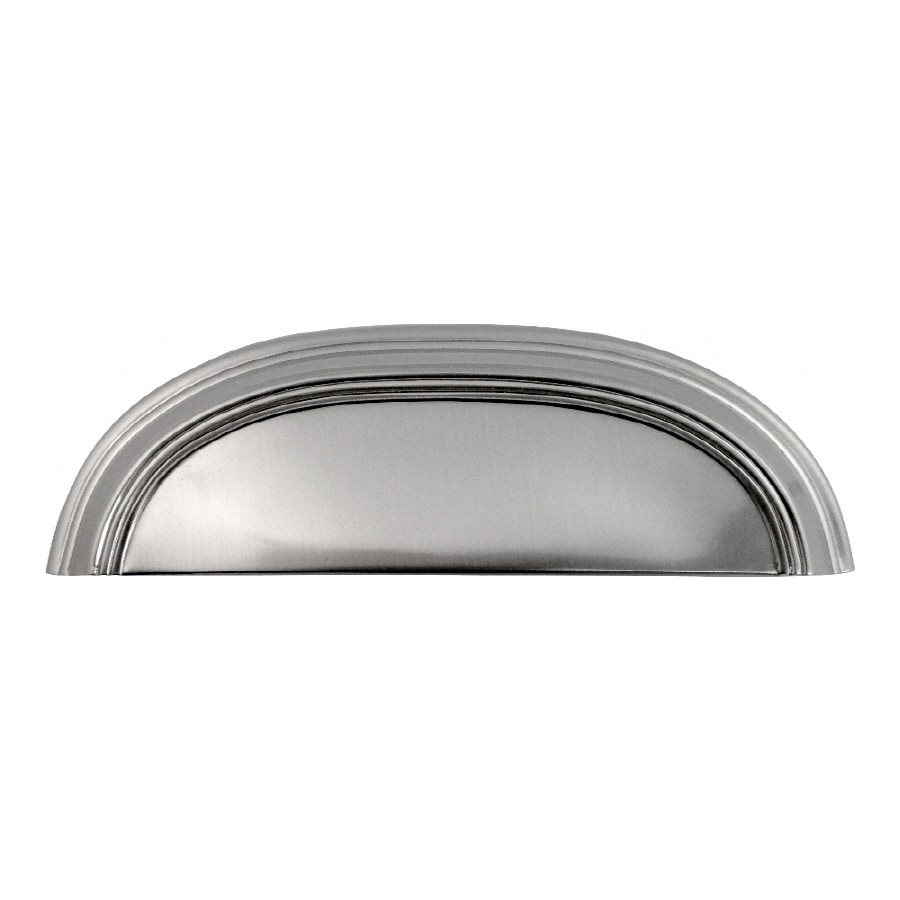 Hickory Hardware 3-in and 96mm Center-to-Center Stainless Steel American Diner Cup Cabinet Pull