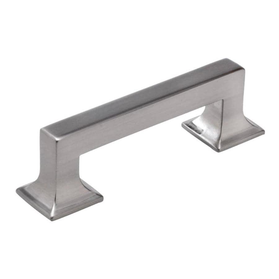 Hickory Hardware 3-in Center-to-Center Satin Nickel Studio Rectangular Cabinet Pull