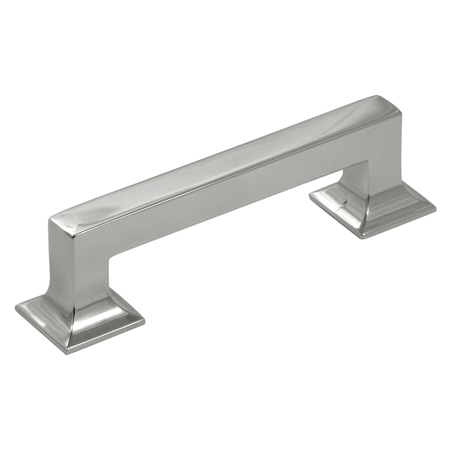 Hickory Hardware 96mm Center To Center Satin Nickel Studio Rectangular  Cabinet Pull