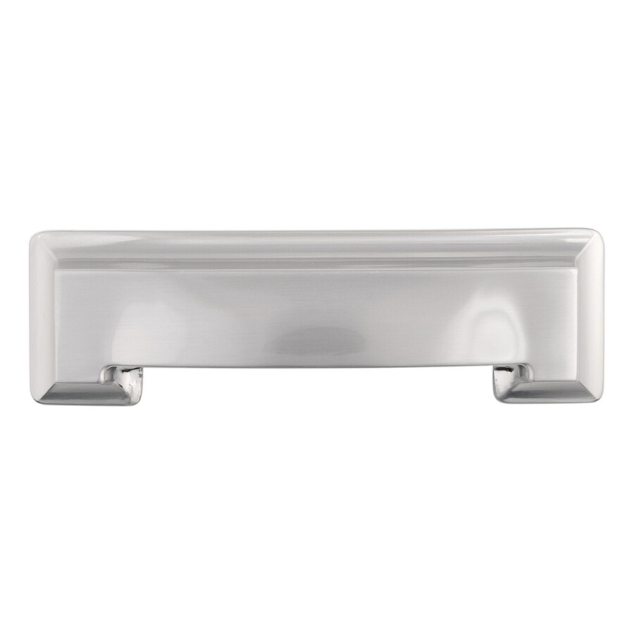 Hickory Hardware 3-in and 96mm Center-to-Center Satin Nickel Studio Cup Cabinet Pull