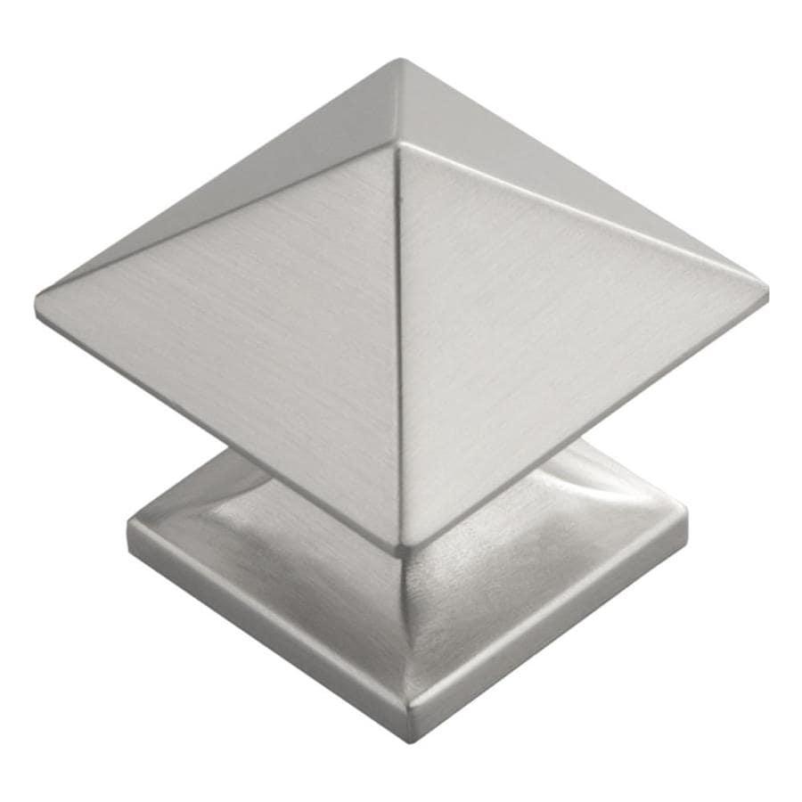 Hickory Hardware Studio Satin Nickel Square Cabinet Knob