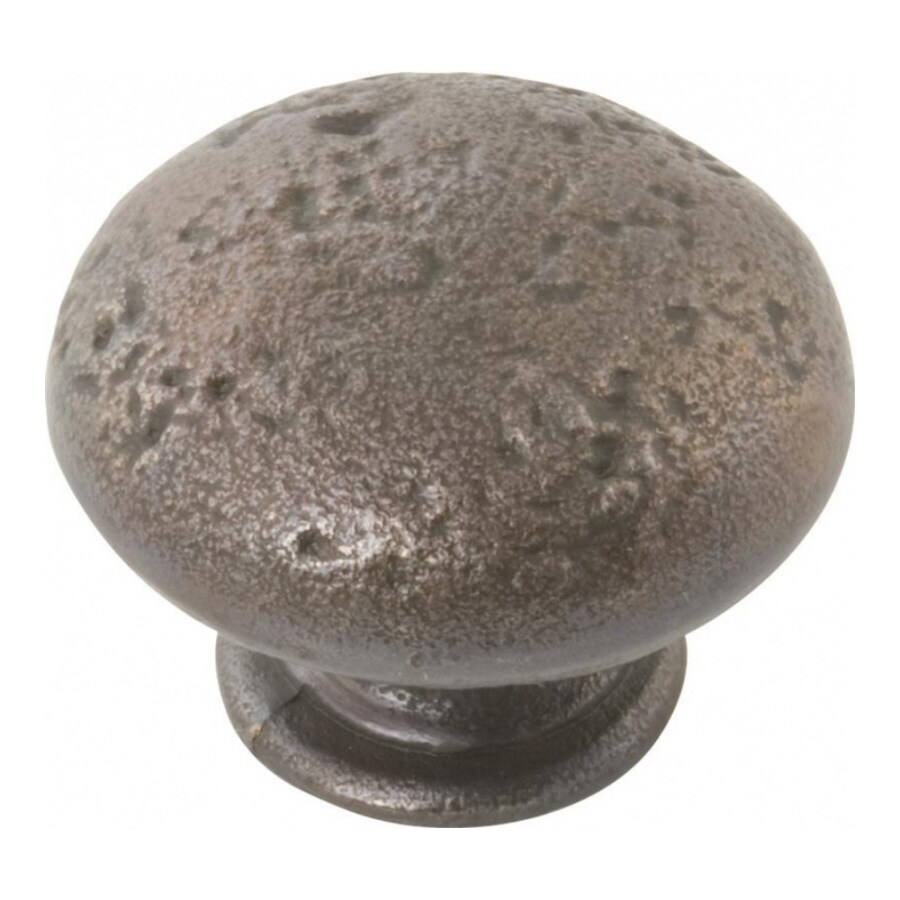 Hickory Hardware Basaltic Dark-Antique Copper Round Cabinet Knob
