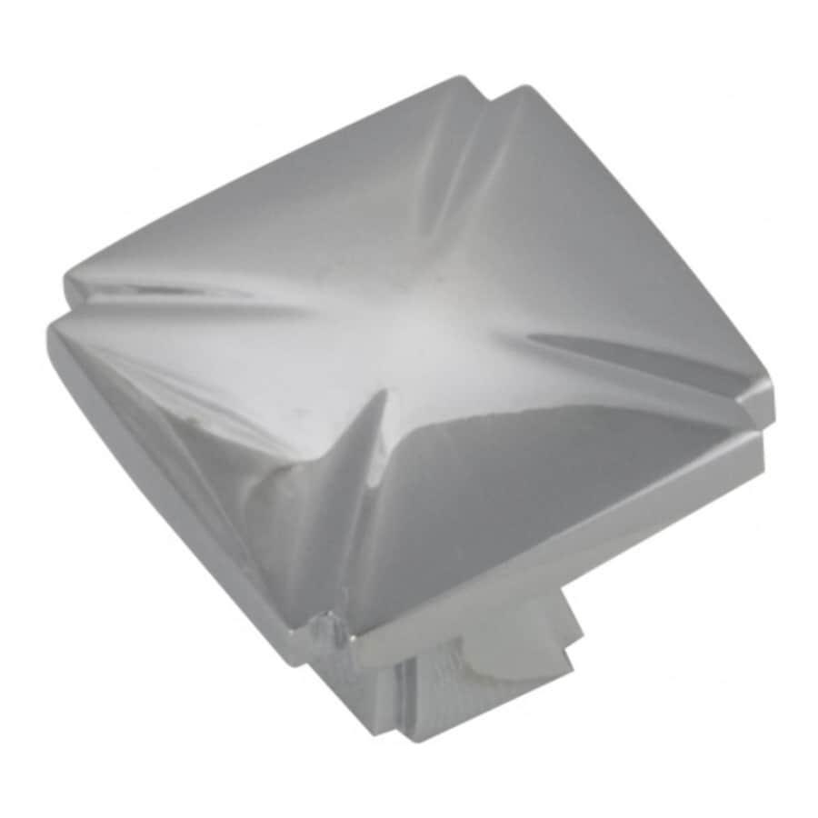 Hickory Hardware Bridges Chrome Square Cabinet Knob