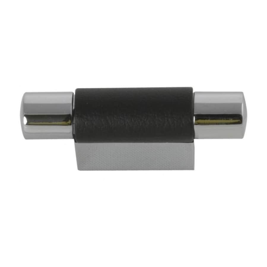 Hickory Hardware 3/4-in Center-to-Center Chrome with Black Greenwich Bar Cabinet Pull