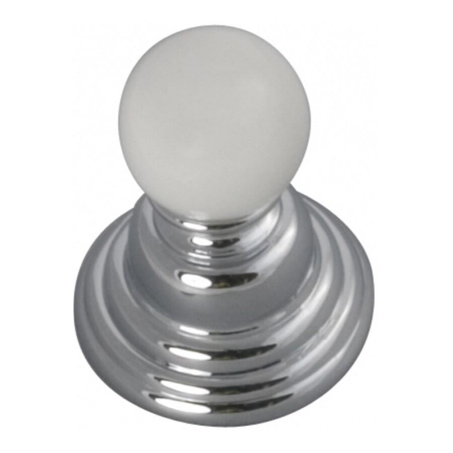 Hickory Hardware Gaslight Chrome with White Globe Cabinet Knob