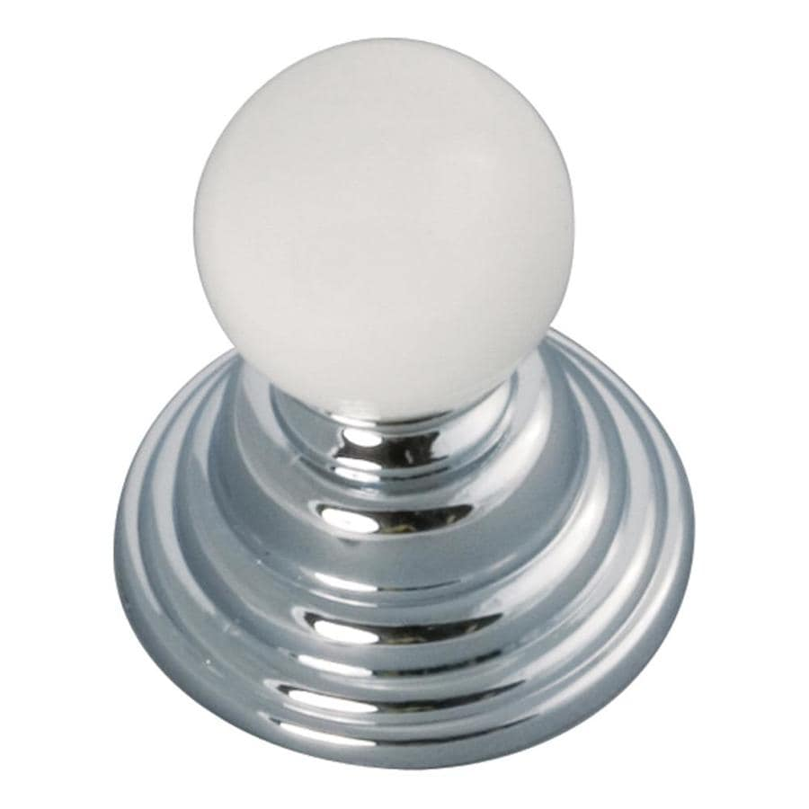 Hickory Hardware Gaslight Chrome with White Globe Cabinet Knob