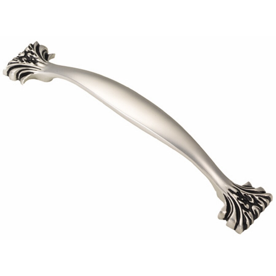 Hickory Hardware 128mm Center-to-Center Satin Antique Silver Ithica Arched Cabinet Pull