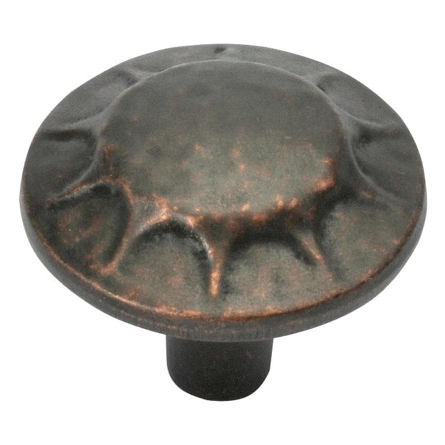 Hickory Hardware Clover Creek Dark Antique Copper Mushroom Cabinet Knob