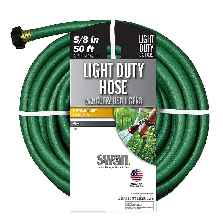 SWAN 5/8-in x 50-ft Light-Duty Garden Hose