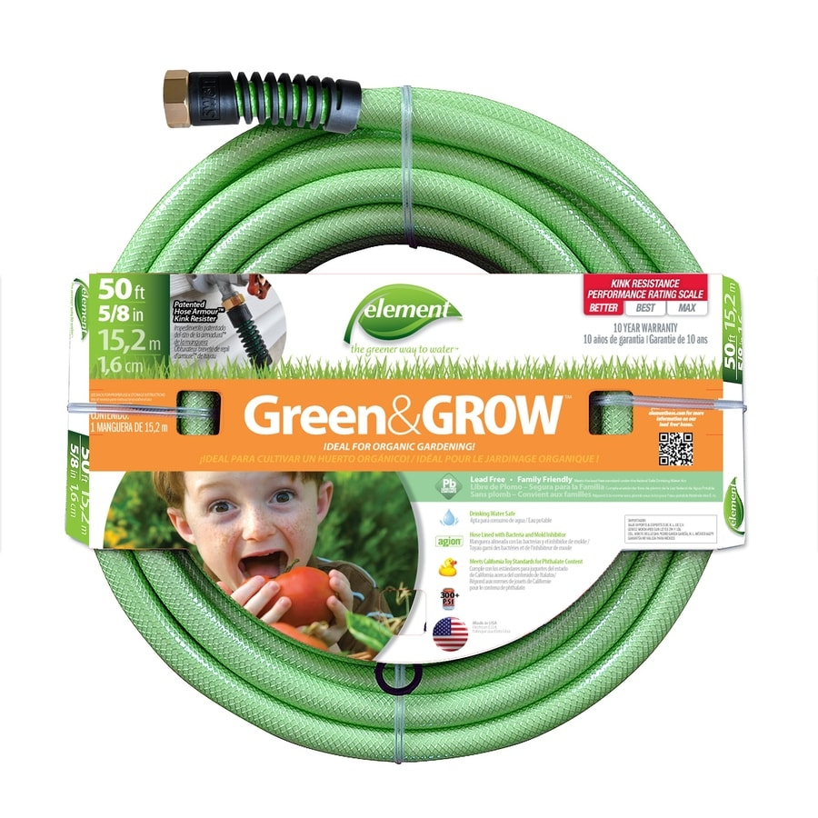 Shop Element 58 in x 50 ft Medium Duty Garden Hose at Lowescom