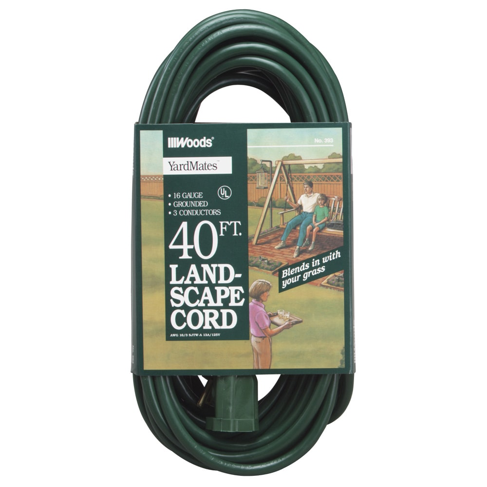 Woods 40 16 3 Landscape Extension Cord