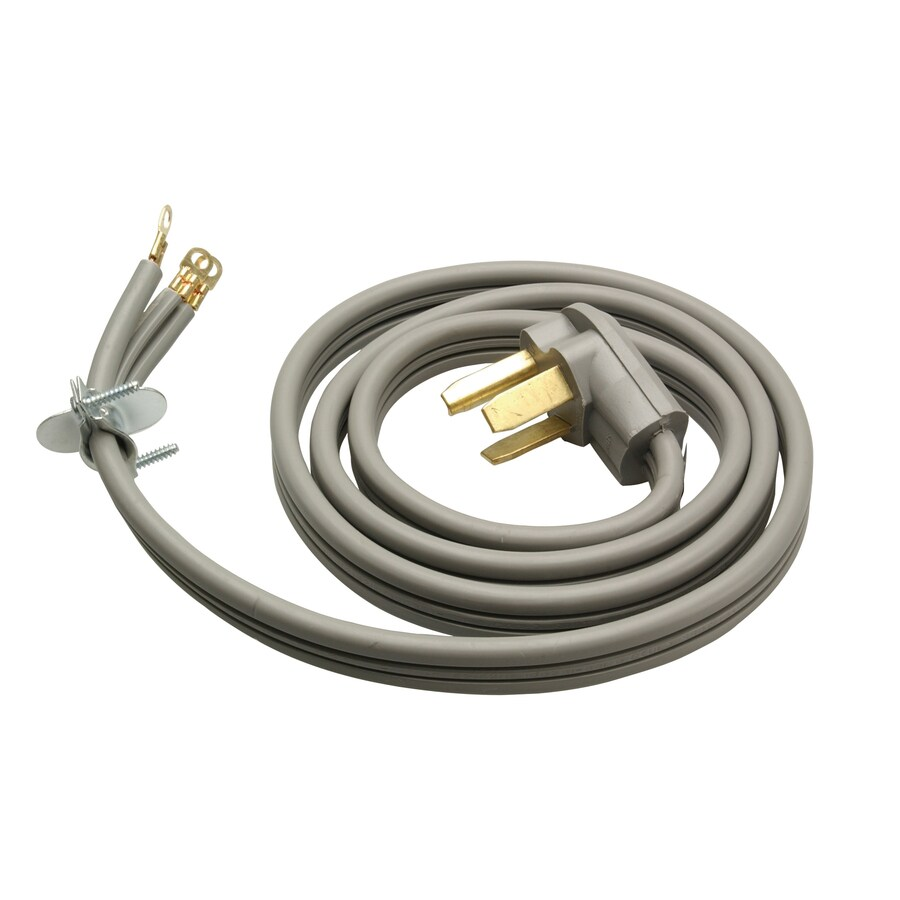 Woods 5-ft 1-Wire Gray Dryer Appliance Power Cord