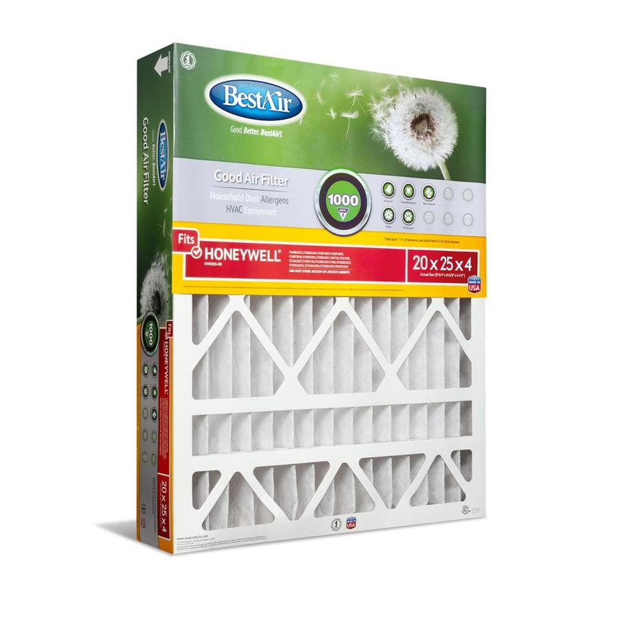 BestAir (Common: 25-in x 20-in x 4-in; Actual: 24.625-in x 19.75-in x 4.25-in) Furnace Filter Pleated Air Filter