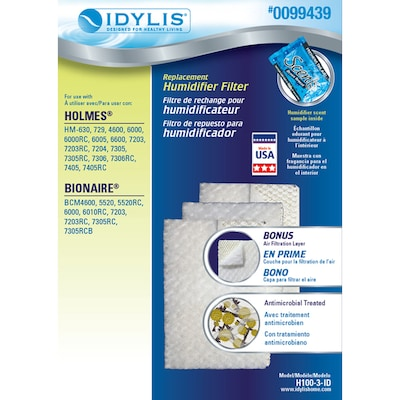 Idylis Replacement Humidifier Filter at Lowes com