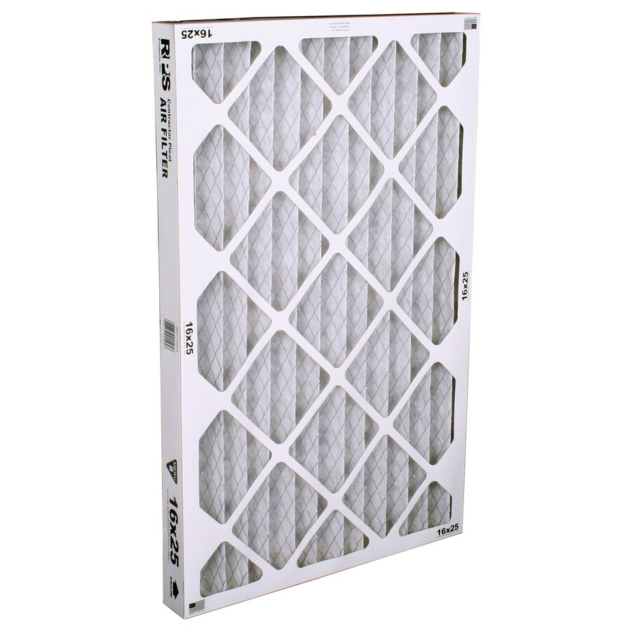 BestAir (Common: 25-in x 16-in x 2-in; Actual: 24.5-in x 15.5-in x 1.75-in) Furnace Filter Pleated Air Filter