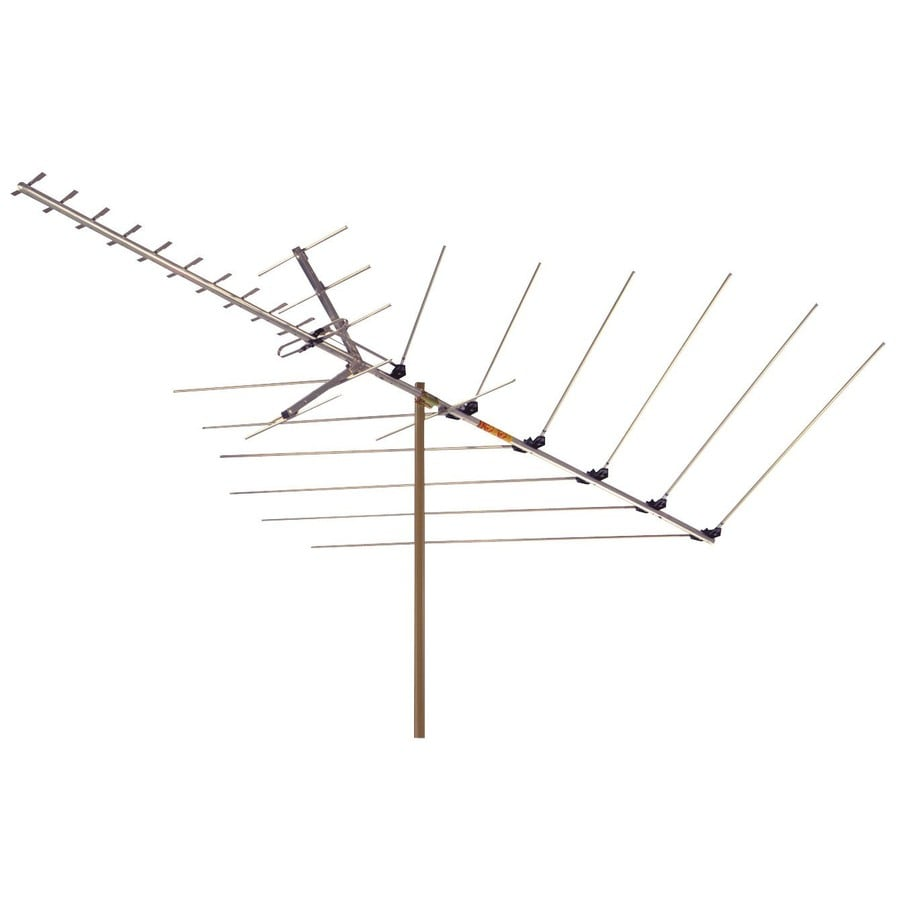 shop rca outdoor digital hdtv vhf uhf fm yagi type antenna