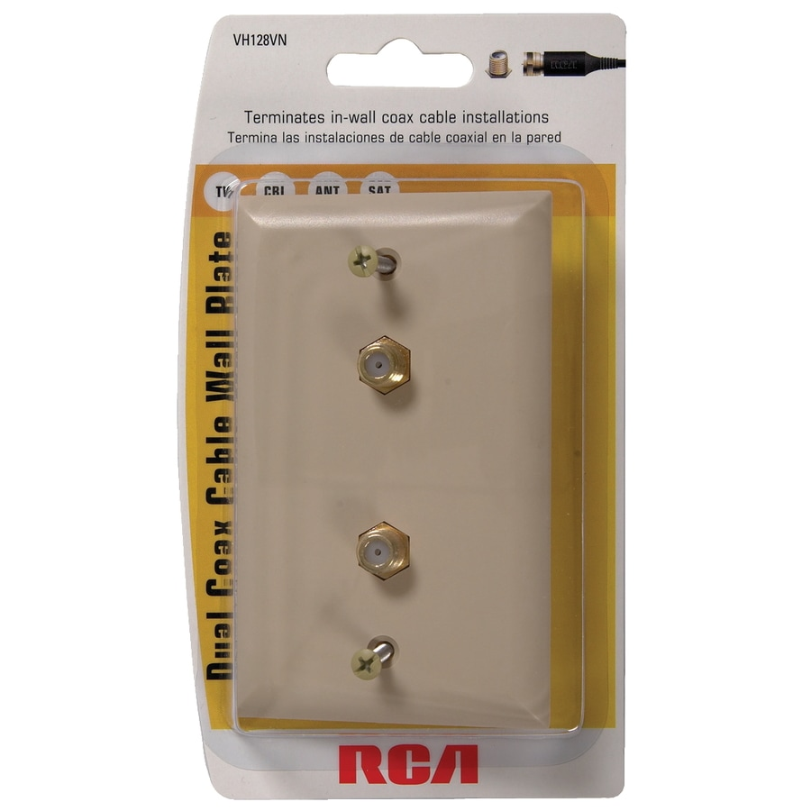 rca dual coax cable wall plate