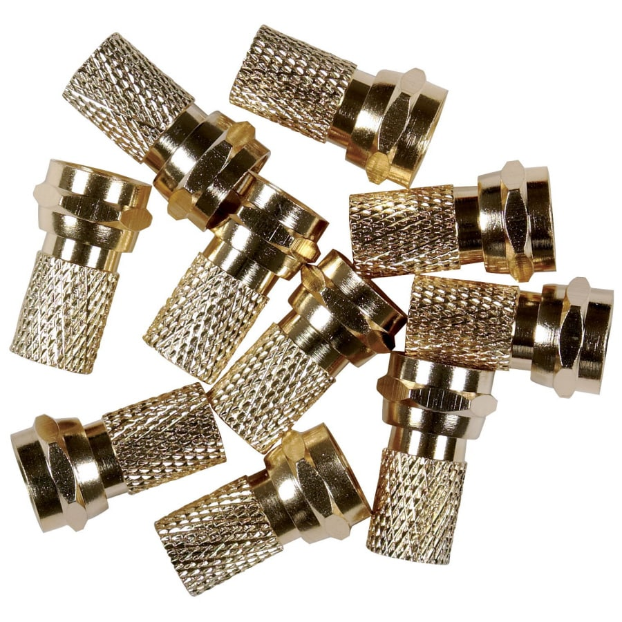RCA 10-Pack Push-On F-Pins