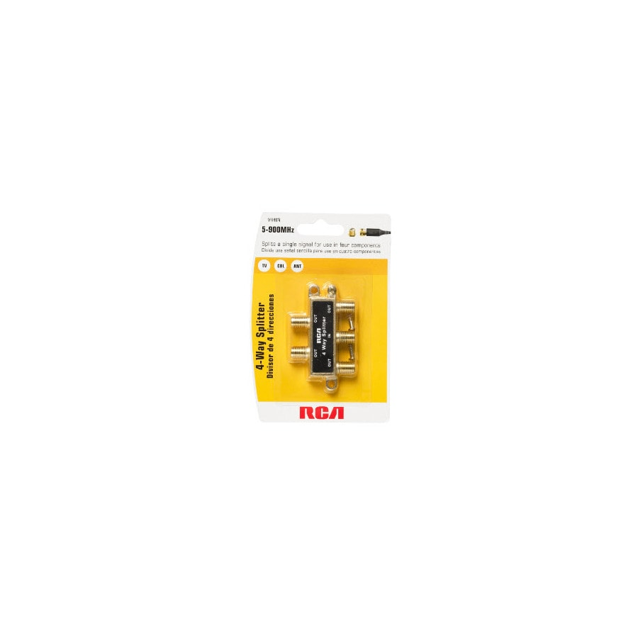RCA 2-Wire Single-to-Triple Brass Adapter