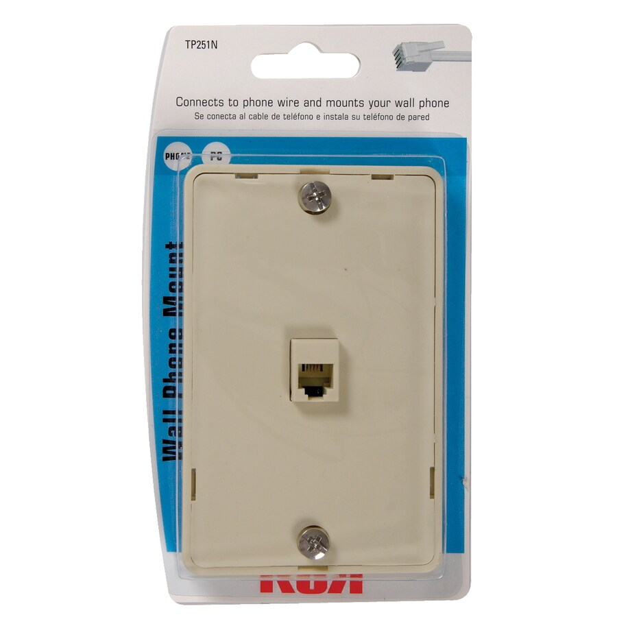 Shop RCA Plastic 4-Wire Phone Mount Wall Jack at Lowes.com