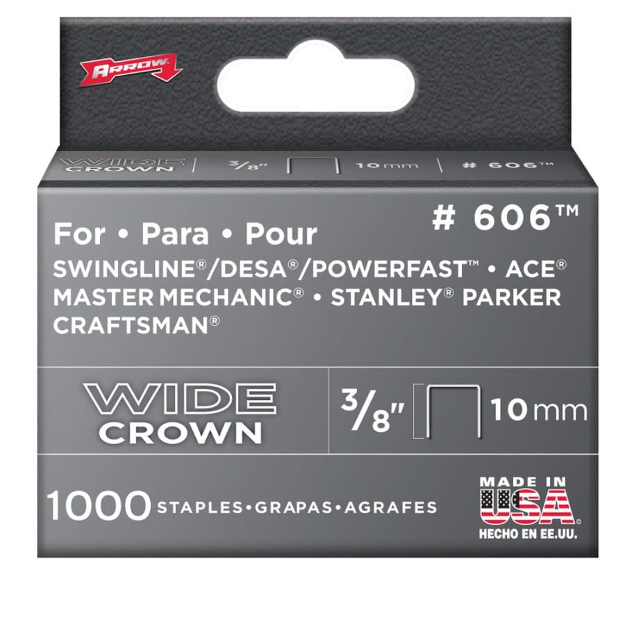 "Arrow 1000-Pack 3/8"" x 3/8"" No. 606 Heavy Duty Staples"