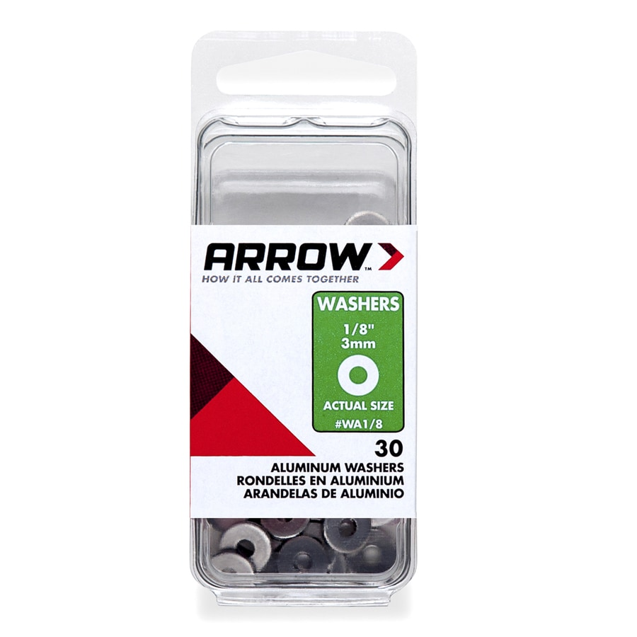 Arrow Fastener 30-Count 0.131 x 3/8-in Aluminum Standard (SAE) Flat Washers