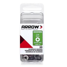 Arrow 30-Count 0.131 x 3/8-in Aluminum Standard (SAE) Flat Washers