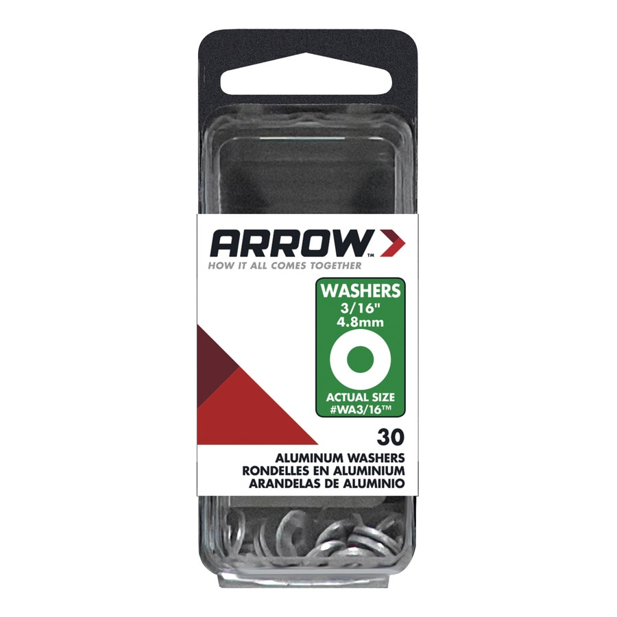 Arrow Fastener 30-Count 0.188-in x 3/8-in Aluminum Standard (SAE) Flat Washers
