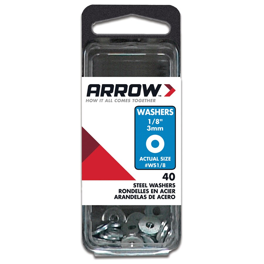 Arrow Fastener 40-Count 0.131 x 3/8-in Plain Steel Standard (SAE) Flat Washers