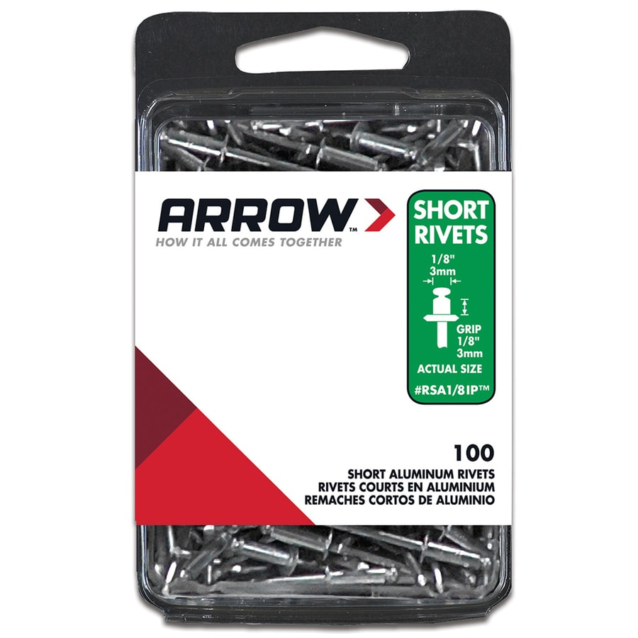 Arrow Fastener 100-Pack 1/8-in Plain Aluminum Rivet