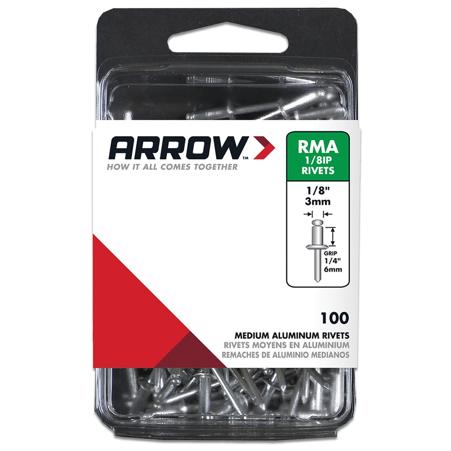 Arrow Fastener 100-Pack 1/8-in Aluminum Rivets