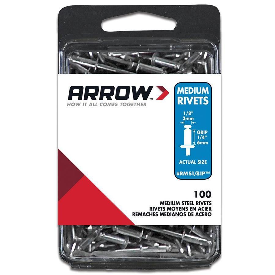 Arrow Fastener 20-Pack 1/8-in Steel Rivets