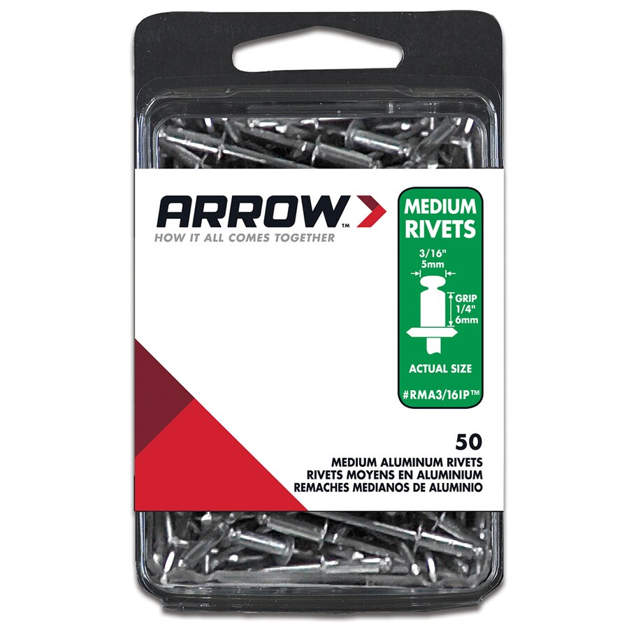 Arrow Fastener 50-Pack 3/16-in Aluminum Rivet