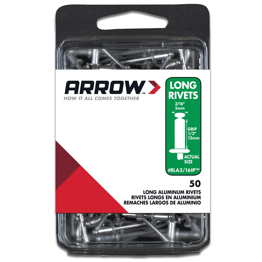 Arrow 50-Pack 3/16-in Plain Aluminum Rivet