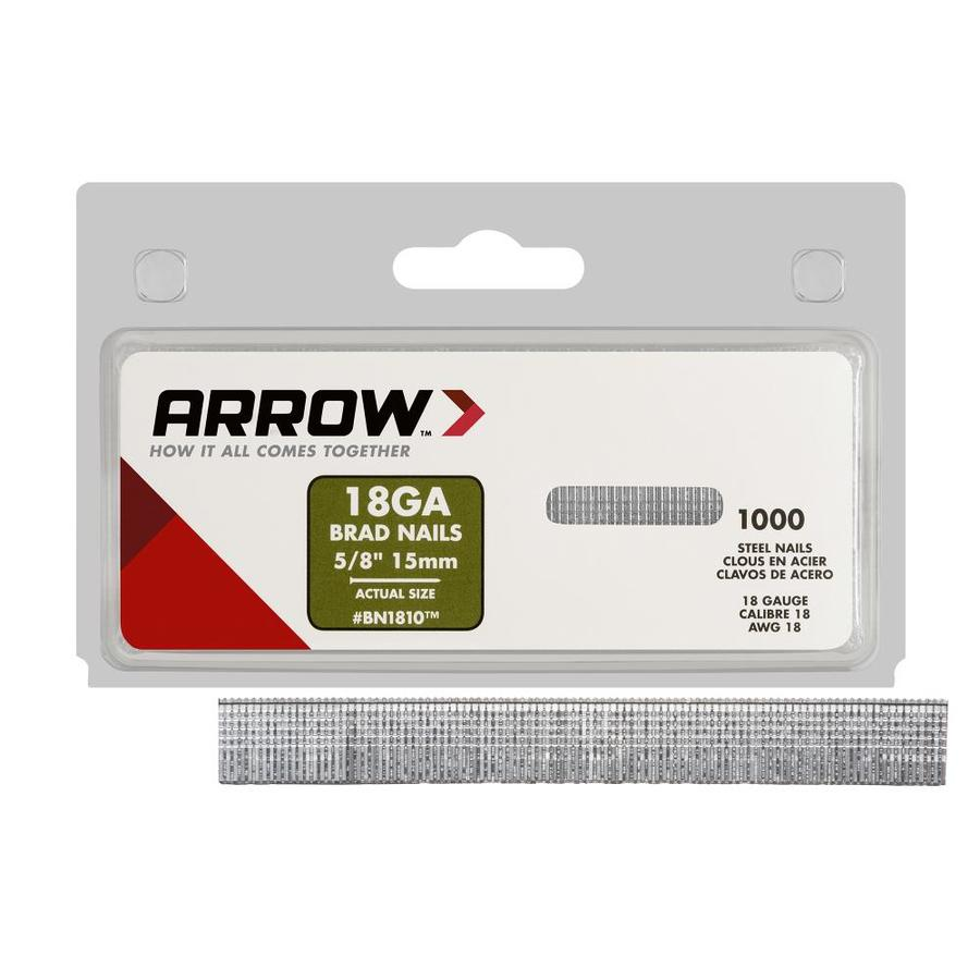 Arrow Fastener 1,000-Count 18-Gauge 0.625-in Plain Steel Brads
