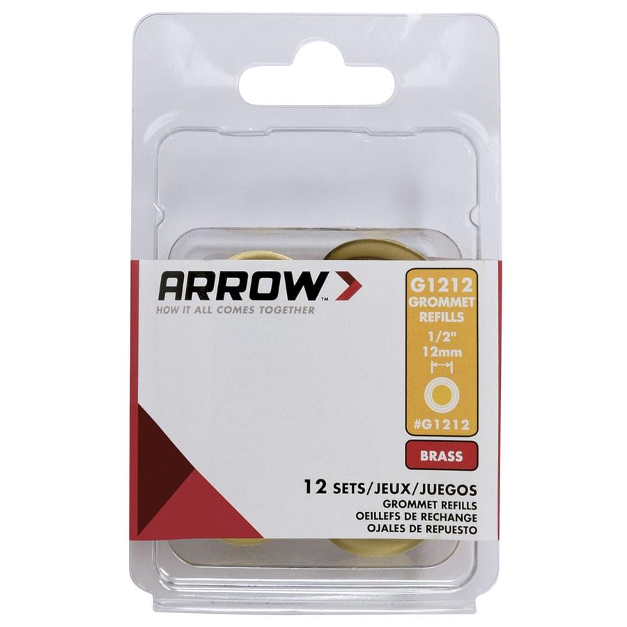 Arrow Fastener 12-Pack 0.5-in Brass Grommets