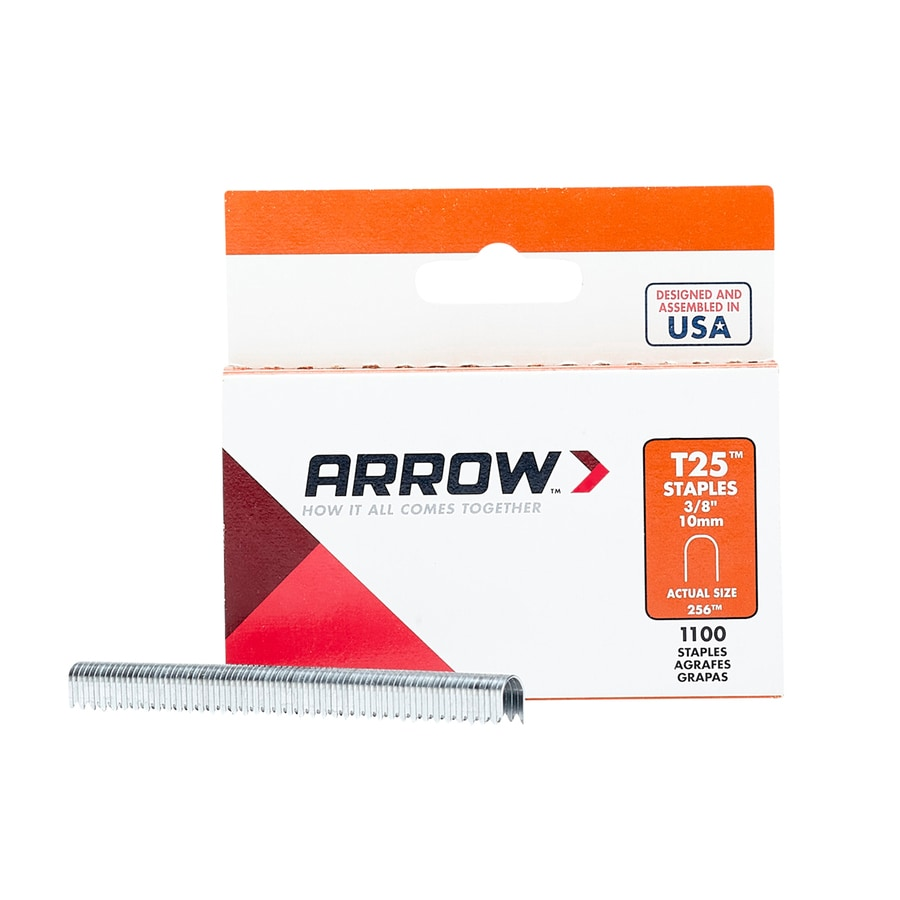 Arrow Fastener 1,000-Count 0.375-in Finish Staples