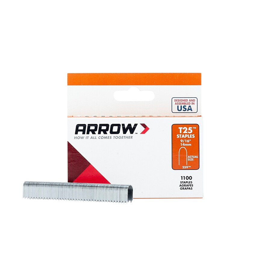 Arrow Fastener 1,000-Count 0.562-in Finish Staples