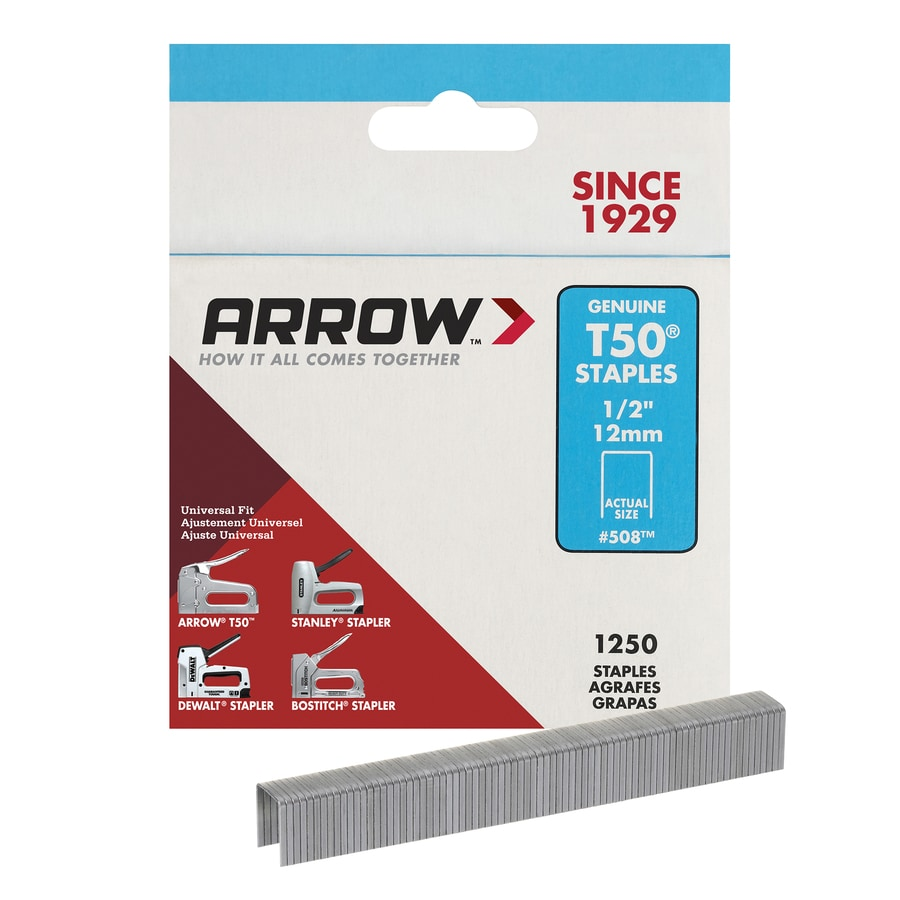 Arrow Fastener 1,250-Count 0.50-in Heavy-Duty Staples