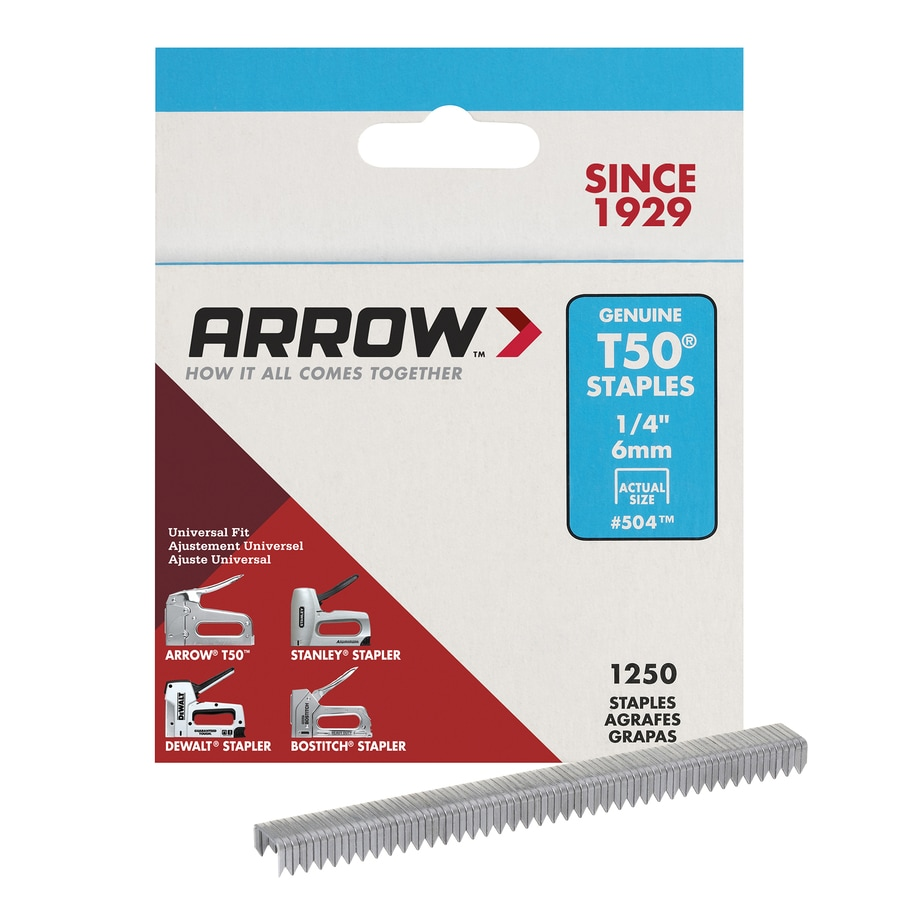 Arrow Fastener 1,250-Count 0.25-in Heavy-Duty Staples