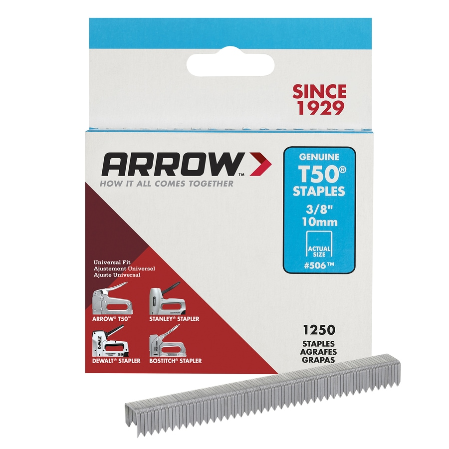 Arrow Fastener 1,250-Count 0.375-in Heavy-Duty Staples