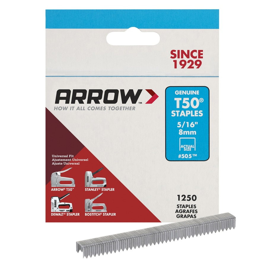 Arrow Fastener 1,250-Count 0.3125-in Heavy-Duty Staples